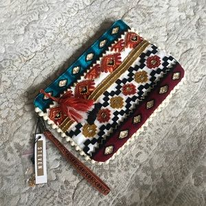 NWT Steve Madden Beaded Clutch